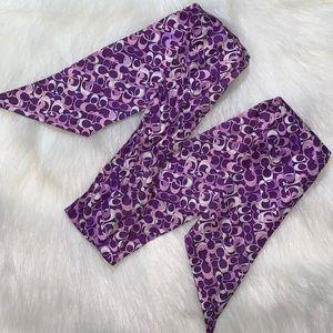 Coach skinny silk scarf
